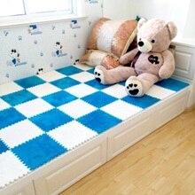 10 Pcs/lot Plush Puzzle Mat Baby Playmats Puzzles Infant Carpet Eva Foam Kids Rug Baby Playing Mat Rug Puzzle Children's Mat