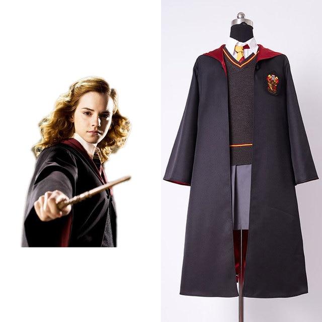 3ccfa16802 2017 New Original Gryffindor Uniform Hermione Granger Best Quality Cosplay  Costume Child Version Cotton Halloween Party