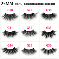 50 pairs 25mm 3D mink lashes wholesale makeup natural long individual thick fluffy false eyelashes eyelash extension supplies
