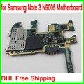 Dhl envío libre y abierto original para samsung galaxy note 3 n9005 motherboard, 32 gb mainboard n9005 con patatas fritas, la versión de europa