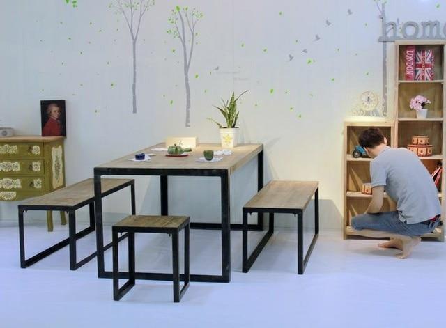 Legno francese ferro battuto tavolo grande tavolo da pranzo grande scrivania sedia sgabello - Tavolo da pranzo grande fratello ...