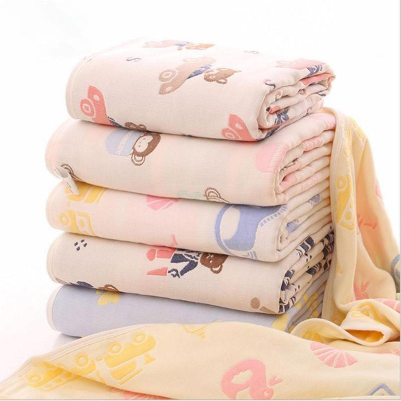 Newborn baby swaddle wrap warm blanket Muslin Cotton Baby Swaddle Receiving Blankets Cartoon infant Bedding Swaddle Towel D3 kalameng baby blanket swaddle blankets newborn softest polyester cover white cartoon animals 0 3 months large 120cm 75cm