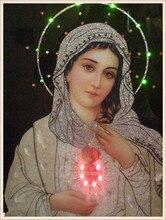 Diamond Mosaic Diy 5D Diamond Embroidery Madonna Diamond Painting Cross Stitch Floral Rhinestone Decoration Stickers Needlework  стоимость