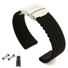 24mm For Suunto Core Series  Rubber / Silica gel Generic Watch Strap / Band And 1 set Adapters  And screwdiver цена