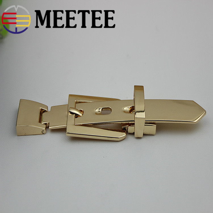 Meetee Bag Hardware Accessories 11.7cm Gold Metal Bag Belt Pin Buckle for DIY Sewing Bags Decoration Clothing Accessories Craft