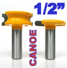 2 pc 1/2 SH 1/4 Dia. Canoe Flute and Bead Router Bit wood cutter woodworking bits milling