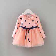 Infant Baby Girl Party Long Sleeve Princess Tutu Dress