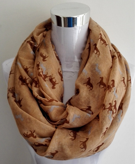 Mini Horses Infinity Scarf | Lightweight Scarves | Upto 60% Off Now