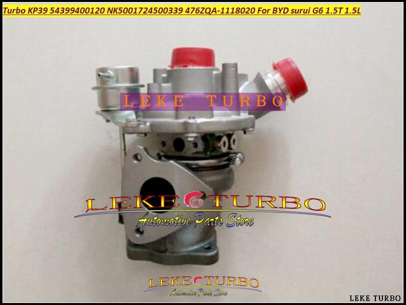 Turbo KP39 54399400120 NK5001724500339 476ZQA-1118020 476ZQA1118020 476ZQA 1118020 Turbocompresseur Pour BYD surui G6 1.5 T 1.5L