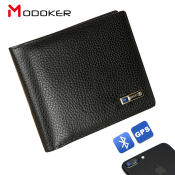 Men's Smart Wallet Men Genuine Leather Locator Wallet iOS, Android App