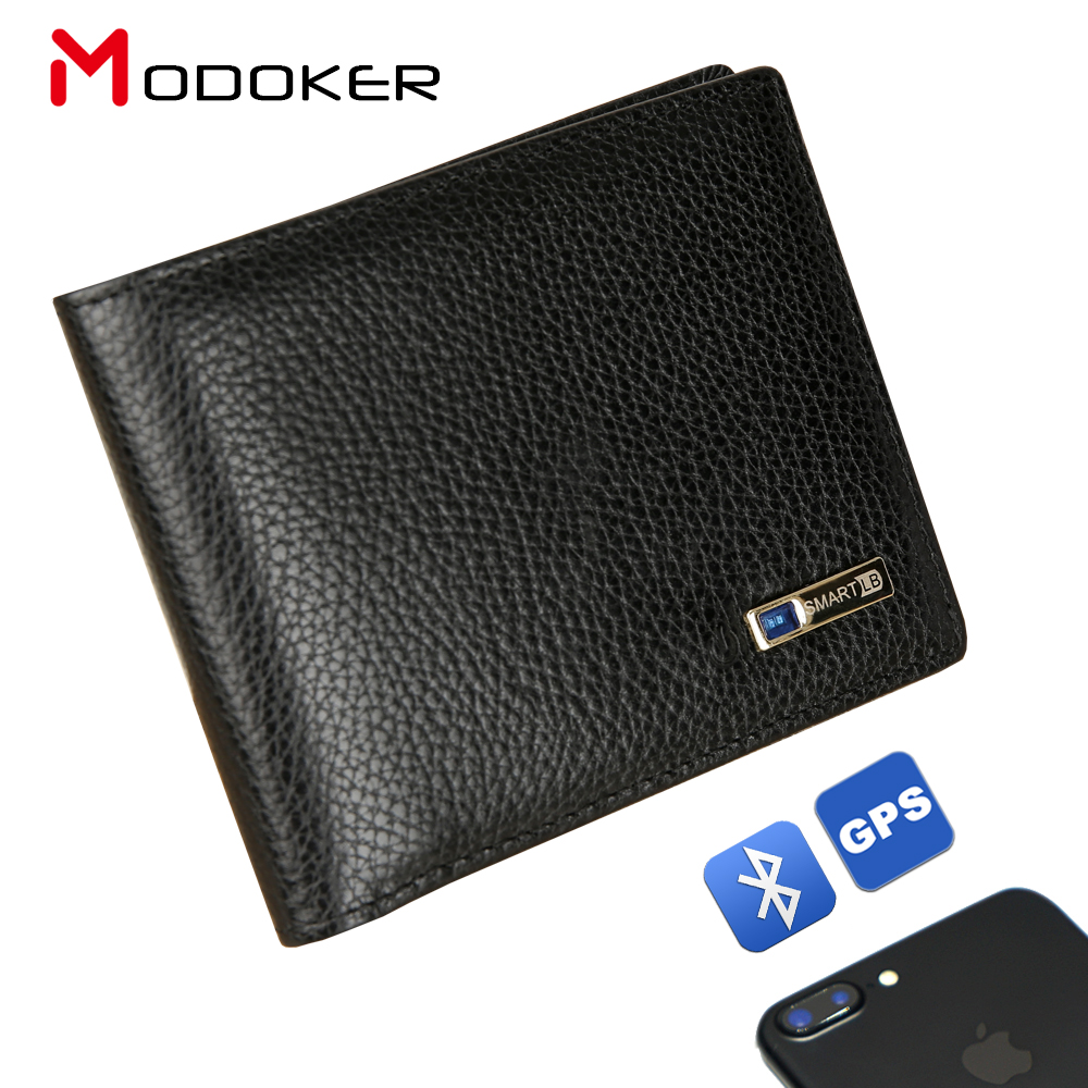 Smart Wallet Purse Intelligent Bluetooth Android Anti-Lost Male Genuine-Leather High-Quality title=