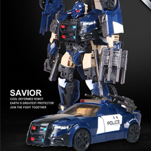 Transformation Black Mamba The Last Knight Police Action Figure Car Toys Deformation Robot Children Gifts 4th party masterpiece movie series mpm 05 barricade transformation action figure police mode collection ko robot toys boys gift