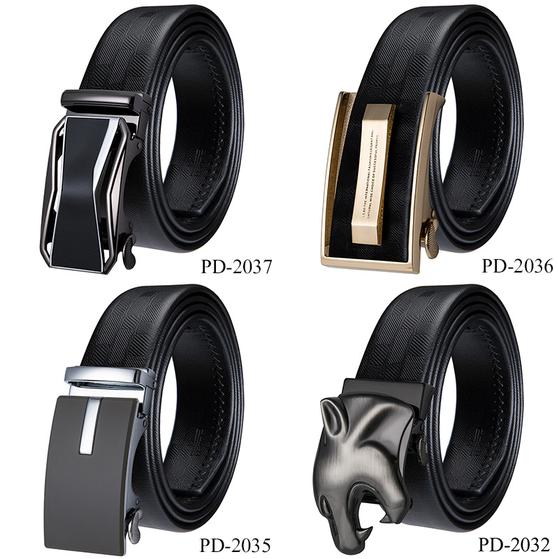 e407758cf79e 2018 Fashion Designer Belts for Men Automatic Buckle Genuine Leather Belt  Men Business Style Trouser Waist Long Belt PD 2037-in Men s Belts from  Apparel ...