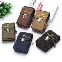 Men Waist Bag Money Belt Wear Fanny Pack High Quality Canvas Phone Bum Small Pocket Casual Male Pouch