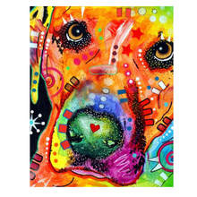 Diy Canvas Painting For Home Decoration,Painting By Number 40x50cm,Colorful Dog Paint Kits