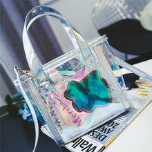 Frauen handtasche 2016 laser transparente zipfel bild paket casual schulter kreuzkörper kleine taschen