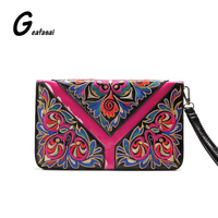 COUPON Women Clutch Envelope Flap Wrist Shoulder Crossbody Bag Lady Chain National Ethnic Chinese Style Embroidered