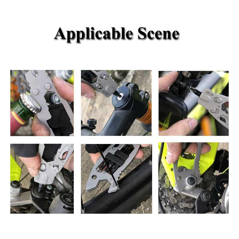6 em 1 edc gadget ferramenta de acampamento ao ar livre chaveiro suprimentos abridor de garrafa multi-função ferramentas chave portátil multitool