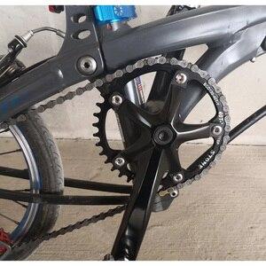 Image 5 - حجر دراجة جبلية واحدة سلسلة BCD 110 مللي متر 34T 36T 38T 40T 42T 48T 58T 60T دائرة سلسلة حلقة 5 الأسلحة ضيق واسع الأسنان سلسلة
