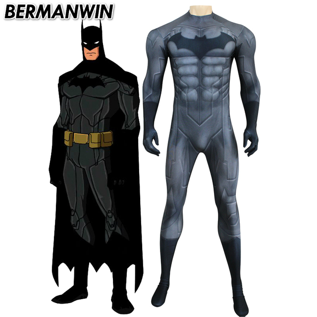 bermanwin high quality new 52 muscle batman costume dark grey chest