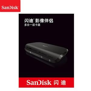 Image 5 - 100%, Sandisk IMAGEMATE PRO USB 3,0, lector multifunción de tarjeta de alta velocidad DR 489 para tarjeta SD/TF/CF, tarjeta Micro SD, memoria inteligente