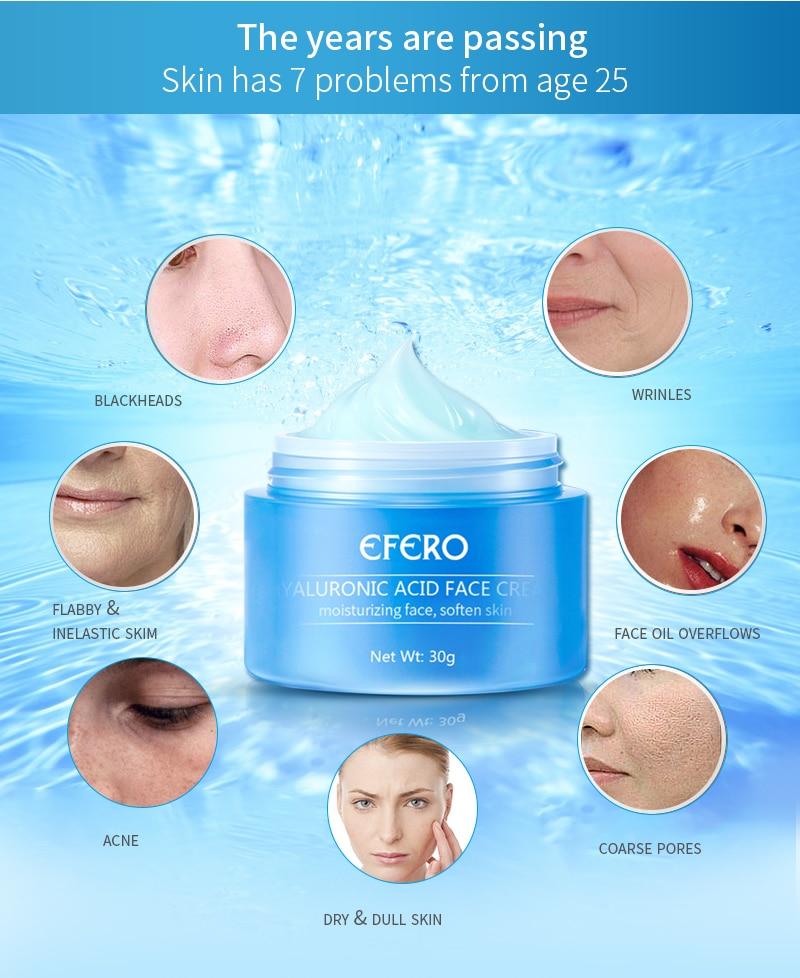 Image 4 - EFERO Hyaluronic Acid Essence Serum Aloe Vera Day Cream Face Cream Moisturizing Anti Aging Wrinkle Whitening Bright Face Cream-in Serum from Beauty & Health