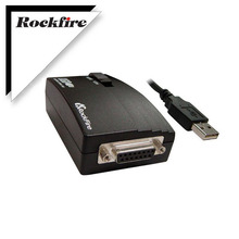 Zwart Nieuwe Usb Naar 15 Pin Vrouwelijke Midi Joystick Game Port Adapter Nest Converter Rockfire 15 P RM 203 Gameport 98/me/2000/Xp * FD046
