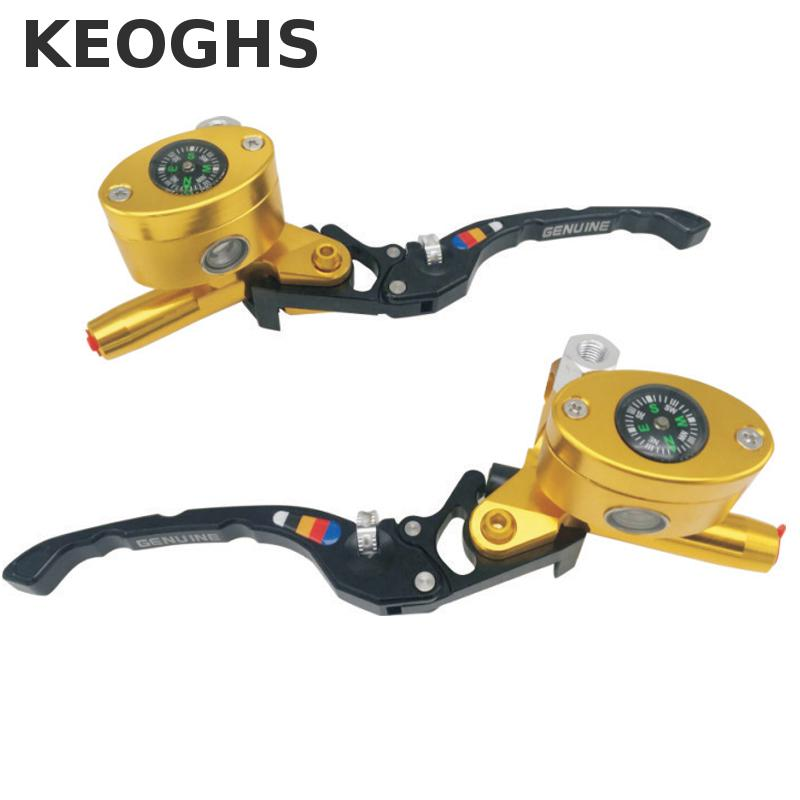 Keoghs Motorcycle Brake Master Cylinder Cnc Aluminum 13mm Piston Size Adjustable For Yamaha Honda Kawasaki Scooter Motorbike keoghs motorcycle floating brake disc 240mm diameter 5 holes for yamaha scooter