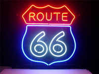 NEON SIGN For ROUTE 66 SIGN Signboard REAL GLASS BEER BAR PUB display outdoor Light Signs 17*14