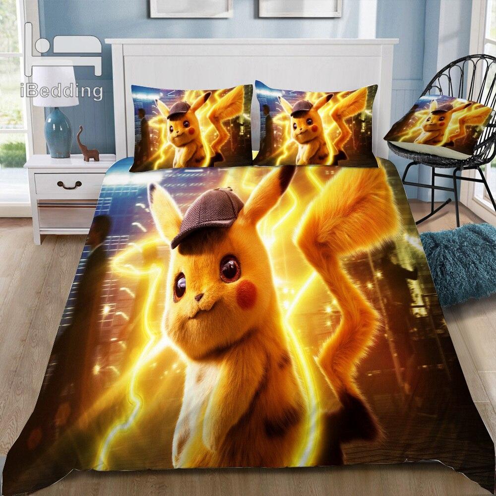 Copripiumino Pokemon.Pokemon Cartoon Movie Pattern 3d Bedding Set Printed Duvet Cover