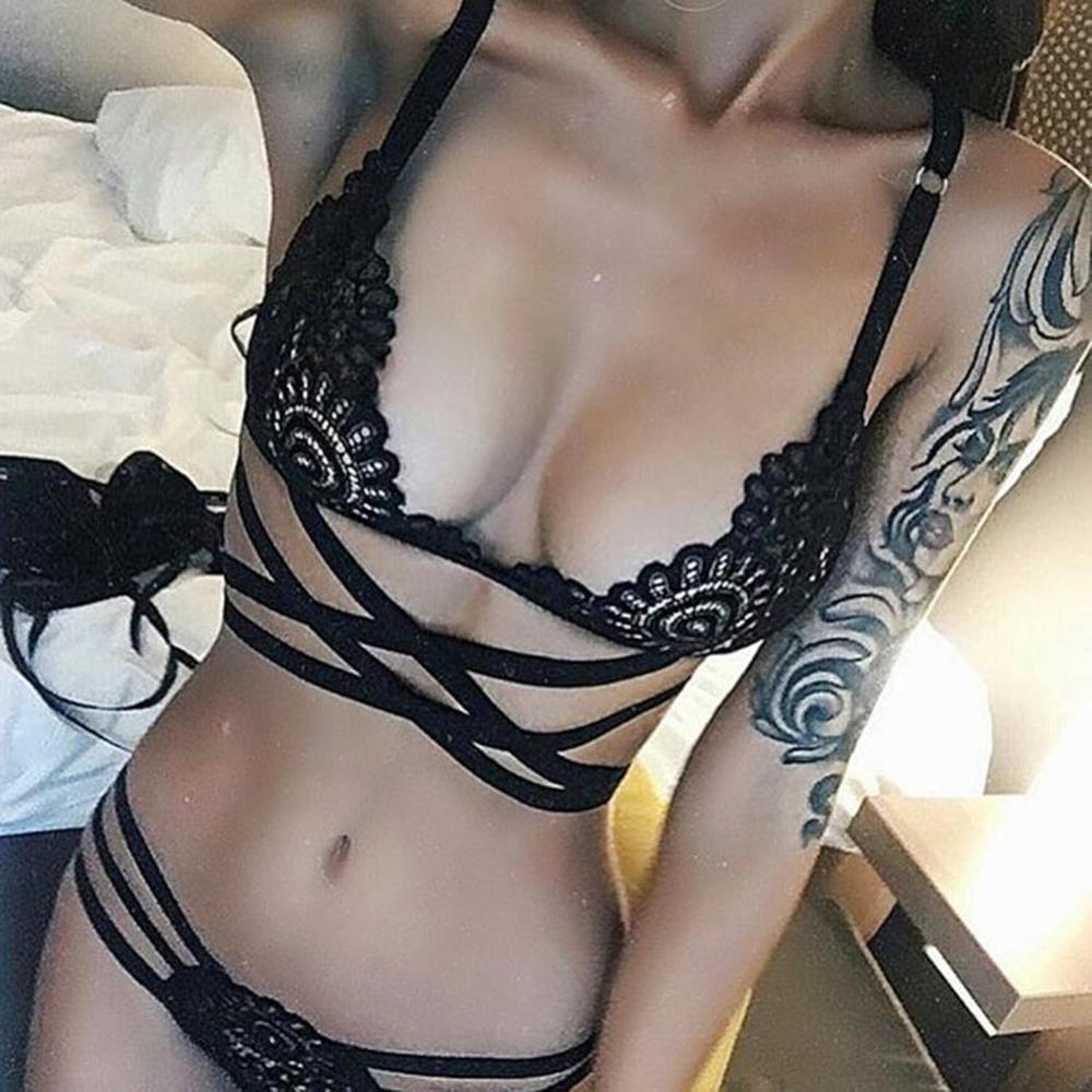Exotic Lace g-String Bikini Bra Underwear 2