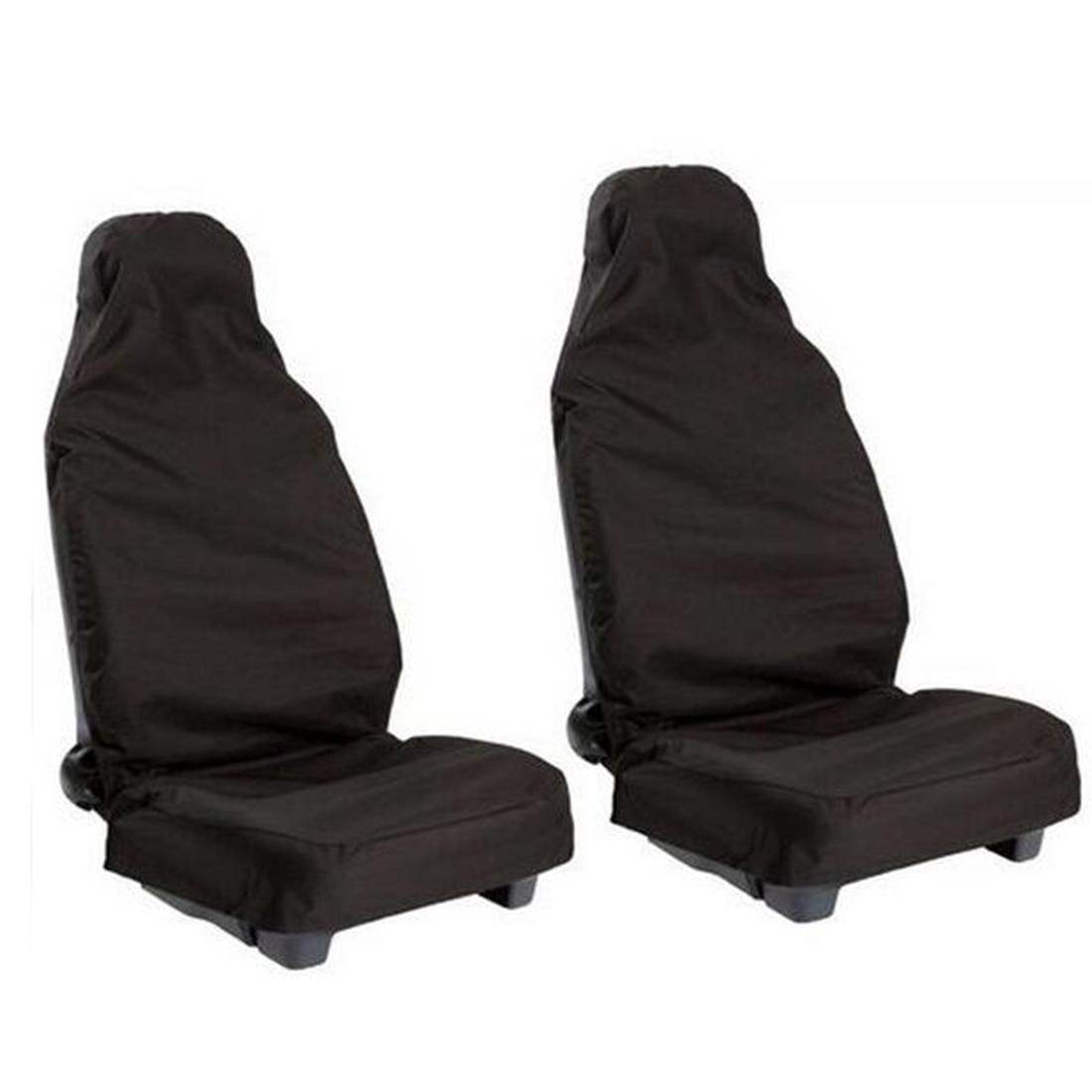 CAR-partment Premium ūdensnecaurlaidīga kausa sēdekļa pārsegs universāli piemērots vairumam automašīnu kravas automobiļu melnā auto sēdekļa aizsargs 1 gab