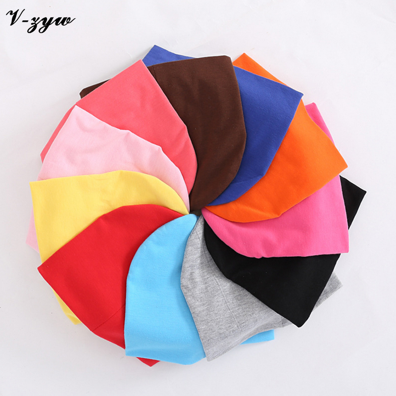 1pc Baby Hat Children Baby Caps Cotton Unisex Girls Boys Hats Newborn Photography Props Candy Color Beanies Accessories YS001