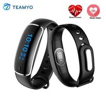 Teamyo v08 cardio gimnasio rastreador pulsera inteligente monitor de ritmo cardíaco reloj de la presión arterial ip67 a prueba de agua de pulsera pulsera inteligente