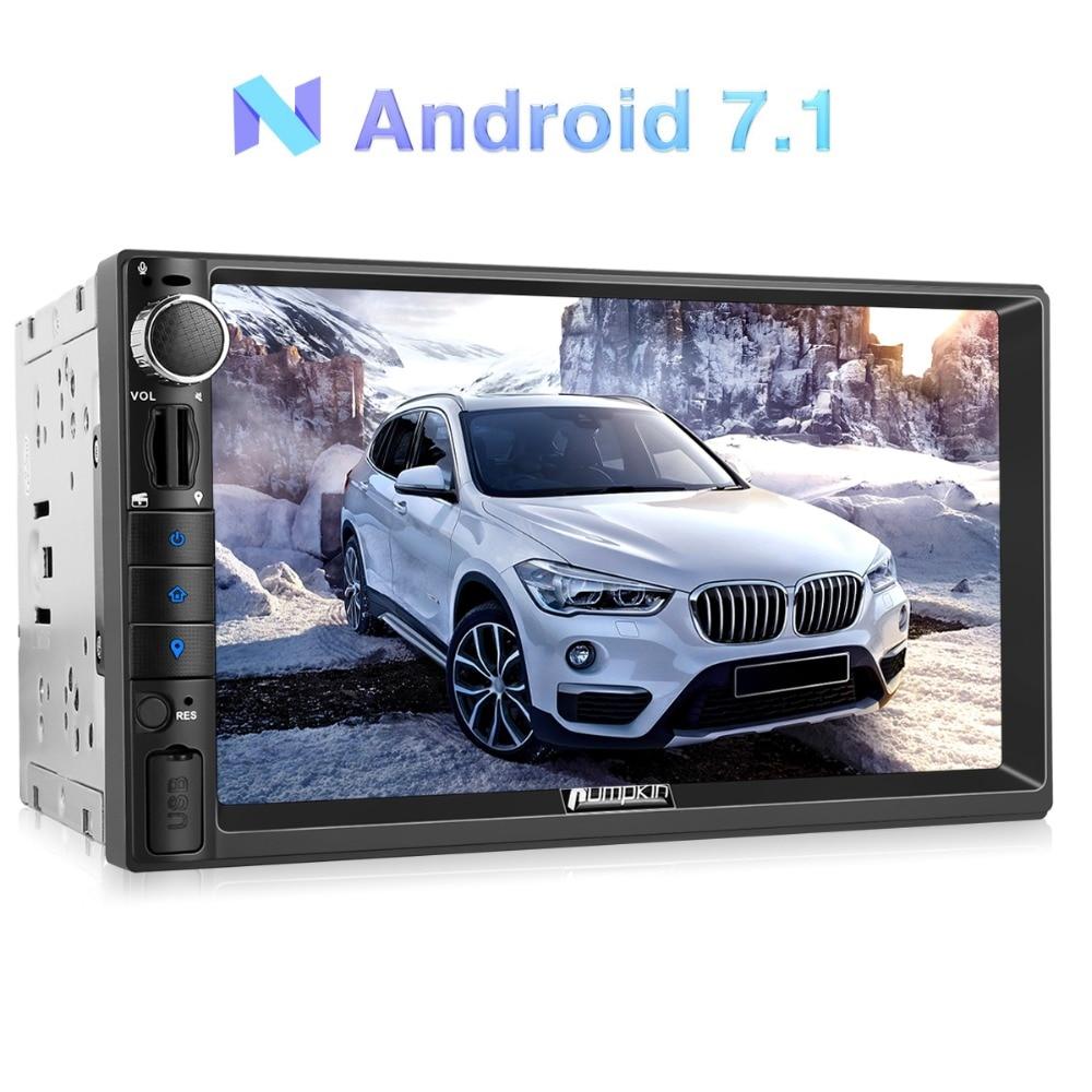 Citrouille 2 Din 7 ''Android 7.1 Universel De Voiture Radio Aucun Lecteur DVD GPS de Navigation Bluetooth Voiture Stéréo Quad- core 4g Wifi Headunit