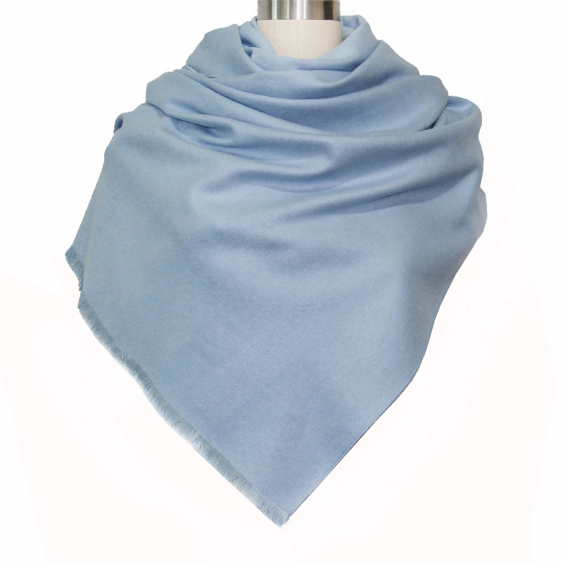 Luxury Brand Casual All-match Solid Warm Color Women Thicken Cashmere   Scarves   Shawl Autumn Warm Winter Woman   Scarf     Wraps