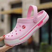 Women Shoes Croc Hole Shoes Men Beach Shoes Light Sandals Home Slippers Flip Flop Outdoor Summer Wading Sneaker Leisure Shoes