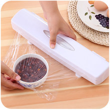 Kitchen Plastic Food Wrap Cling Film Dispenser Seal Aluminum Foil Wax Paper Cutter Kitchen Cutting Tool(China)