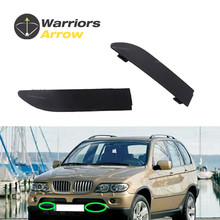 цена на 51118250413 51118250414 For BMW X5 E53 2000 2001 2002 2003 Pair Front Bumper Grill Tow Eye Hook Cap Cover L R