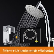 Free shipping Hand-held stainless steel top temperature spray shower