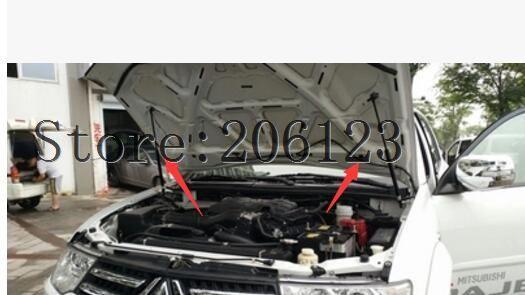 For Mitsubishi Pajero V93 V97 V77 V33 v87 v83 ACCESSORIES CAR BONNET HOOD GAS SHOCK STRUT LIFT SUPPORT CAR STYLING hot selling 4 led car reserve back up camera 170 degree car mirror 4 3 for mitsubishi pajero zinger l200 v3 v93 v5 v6 v8 v97
