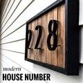 127 мм большой современный дом номер двери цифра дл обозначения номера дома или квартиры цифры цинковый сплав черный дом Адрес знак #0-9 - фото