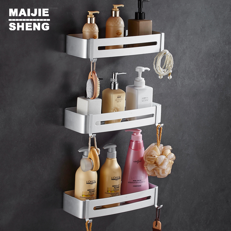 bathroom shelf cosmetic rack with single lever bathroom rack shelf households rack bathroom corner shelf space