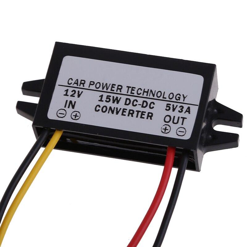 цена на DC to DC Converter Regulator 12V to 5V 3A 15W Car Led Display Power Supply