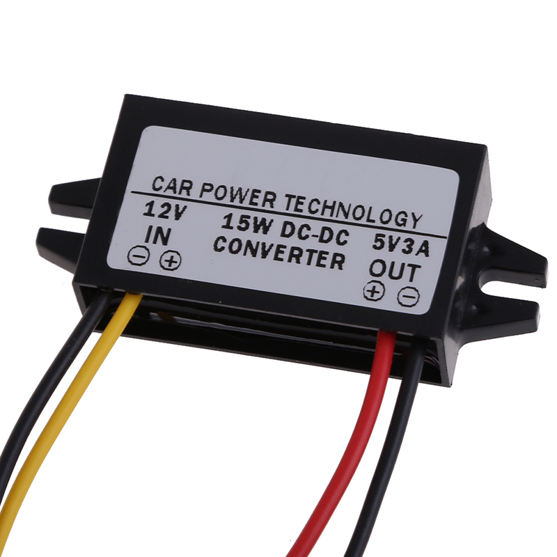 VODOOL DC to DC Converter Regulator 12V to 5V 3A 15W Car Led Display Power Supply for Car Corder/Navigation/Audio/LED Display td070wgcb2 supply original tongbao 7 inch car audio navigation display lamp