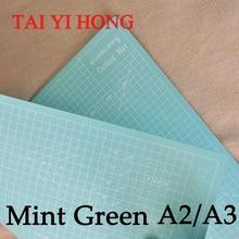 A2 Mint Green Pvc cutting mat self healing cutting mat Patchwork tools craft cutting board cutting mats for quilting