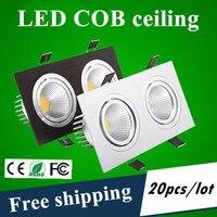 Fedex DHL Round Square 12w 20w LED COB Chip Downlight Recessed LED Ceiling Light Spot Light