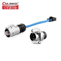 CNLINKO новый стиль M16 металлический корпус RJ45 разъём для настенного крепления и разъем водонепроницаемый IP67 сигнальный разъем