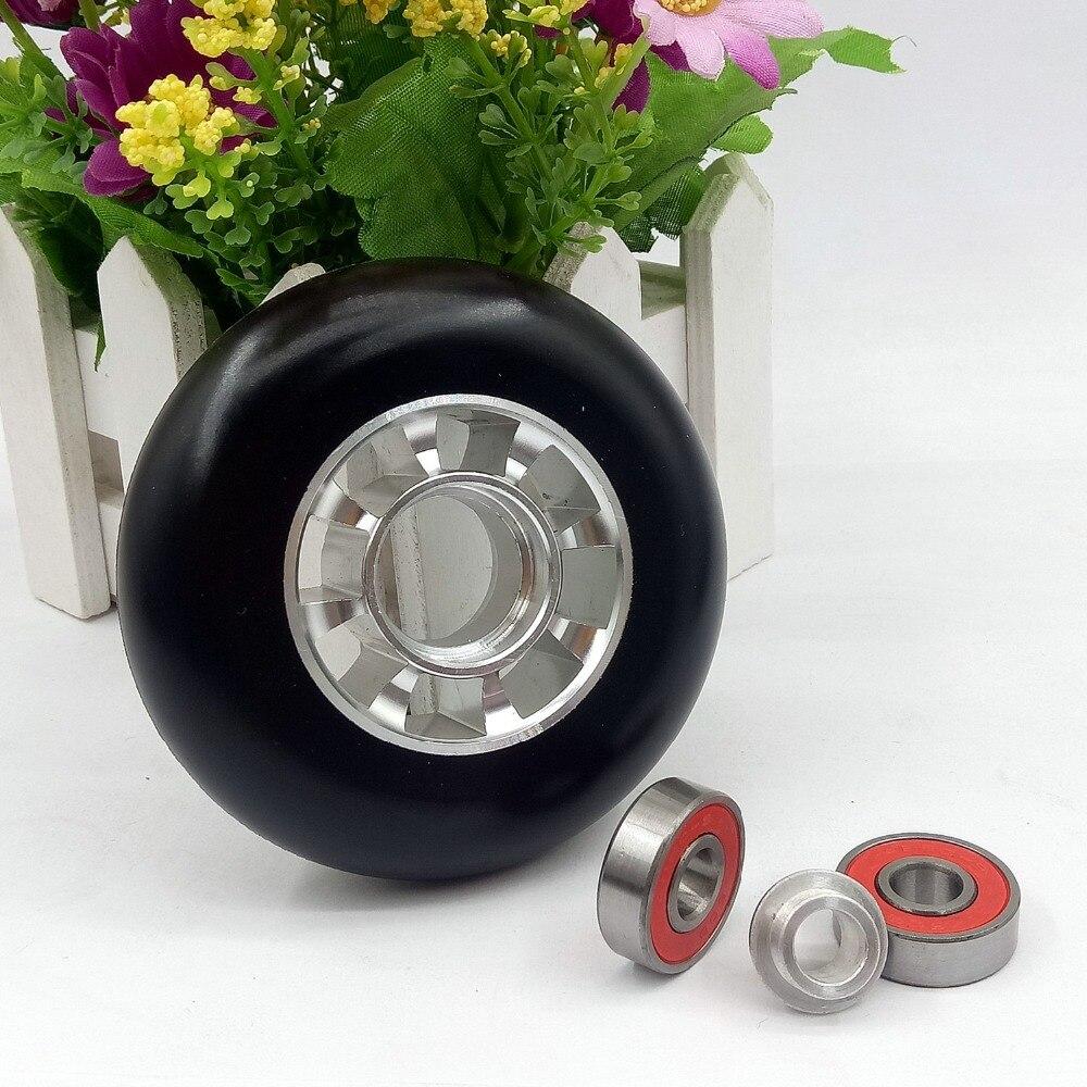 80mm patins à roulettes roues 88A 4 pièces avec moyeu en alliage d'aluminium PU haute élasticité 608 ABEC-9 22*8*7mm roulements