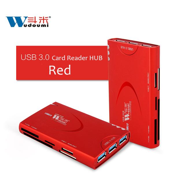 USB 3.0 Tudo em um HUB USB/TF MS M2 leitor de Cartão CF SD/cabo com alimentação externa adaptador